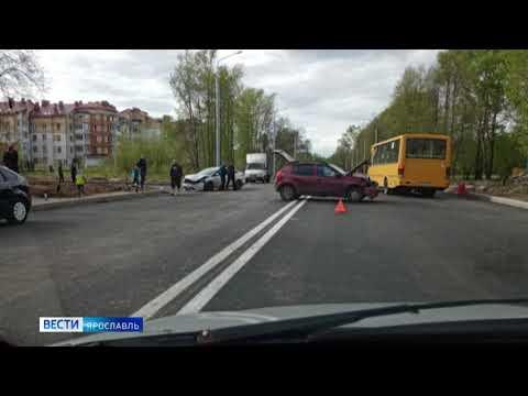 Первые аварии зафиксированы на отремонтированном участке Тутаевского шоссе