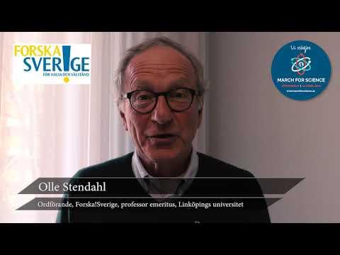 Varför stödjer du March for Science? Olle Stendahl, Ordförande Forska!Sverige