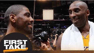Stephen A. Smith on Kyrie Irving: He looks like a clone of Kobe Bryant   First Take   ESPN