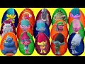 30 TROLLS PLAY DOH SURPRSE EGGS with Poppy and Branch, Blind Bags, Mashems Fashems, TOY  | TUYC