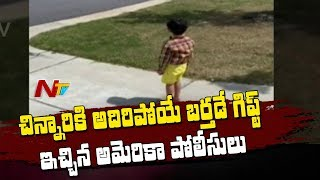 Viral Video: American police surprise Telugu kid on his bi..