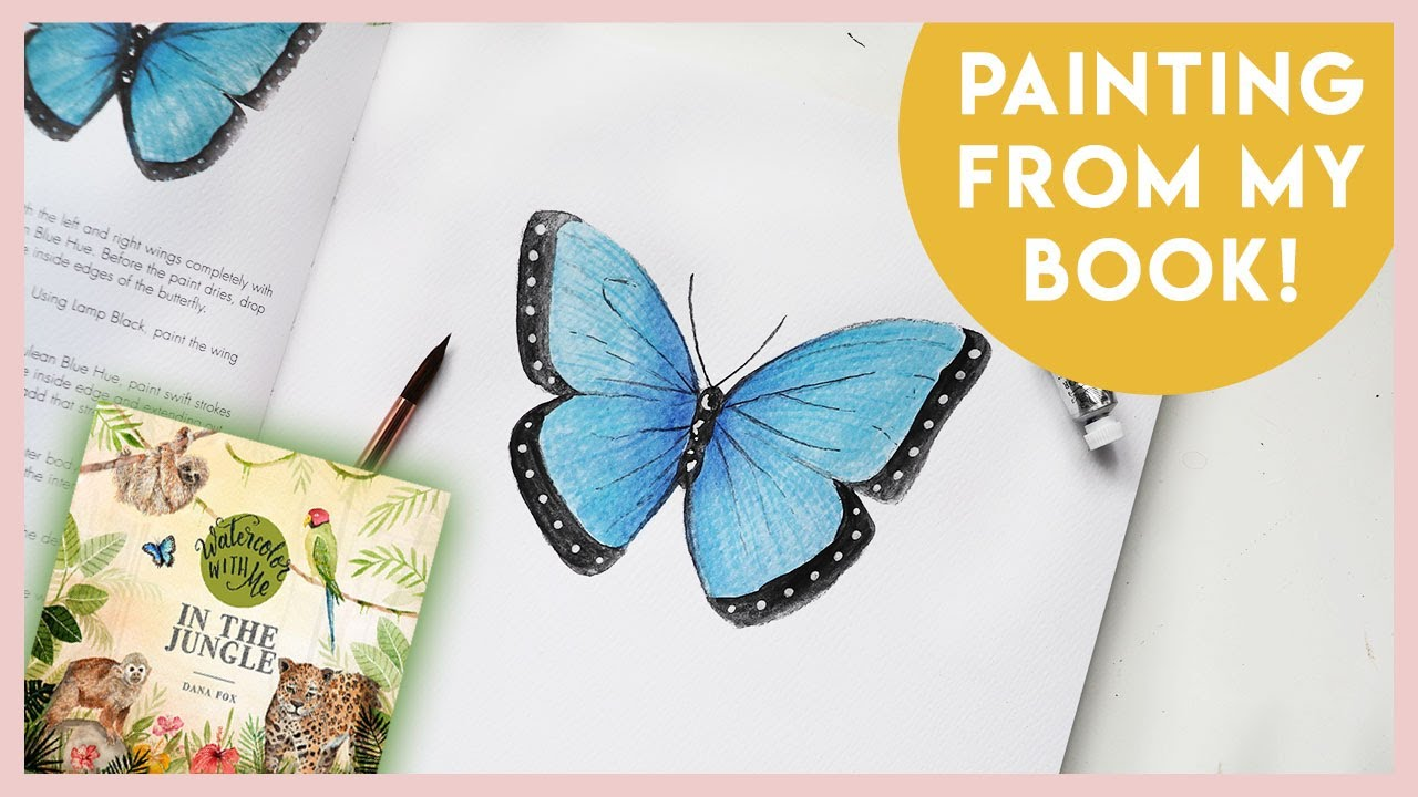 How To Paint a Butterfly in Watercolor With Me: In The Jungle