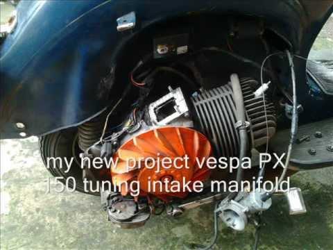 Vespa px 150 Racing Vespa px 150 Intake Tuning.wmv