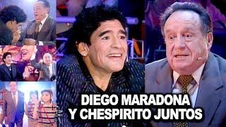 Maradona y Chespirito juntos: El día que Diego no pudo contener la emoción al conocer a su ídolo