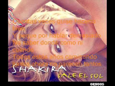 Shakira Lo Que Más - Lyrics Nueva cancion (Sale el sol)