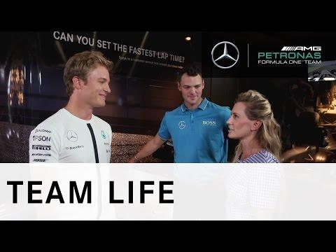 Nico Rosberg v Martin Kaymer: Challenge 3 ? The Simulator