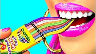 WOW! Funny DIY School Hacks and Pranks!!! So Funny! (CC Available)
