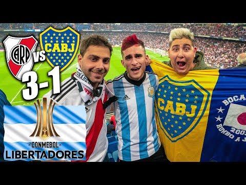 REACCIONO a la DERROTA River Plate 3-1 Boca Juniors FINAL LIBERTADORES ARGENTINA   Partido Bernabéu