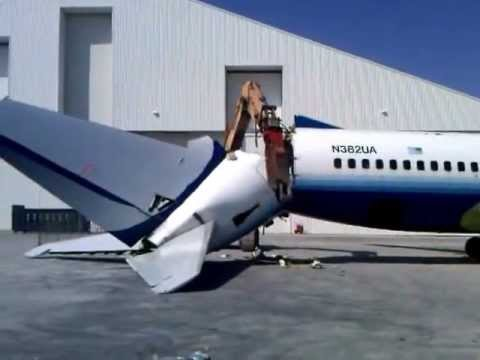 Aircraft Demolition, LLC - Boeing 737 tail removal
