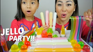 Jello Party *Assorted Jellos & Jelly Sticks  Mukbang | N.E Let's Eat