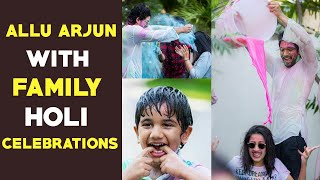 Pics: Allu Arjun family Holi celebrations- Allu Sneha, Nih..