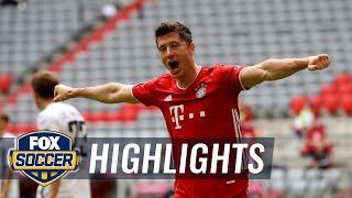 Robert Lewandowski's 2 goals lead Bayern Munich past Freiburg 3-1   2020 Bundesliga Highlights