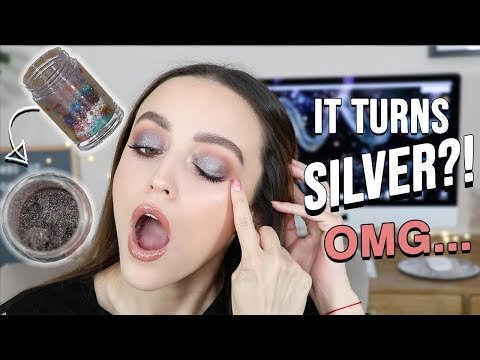 MIXING ALL MY PIGMENTS TOGETHER!!! + TRYING NEW DRUGSTORE (mainly) MAKEUP