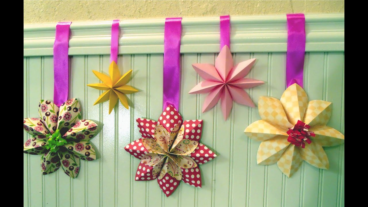 How To Fold A Flower Decoration Floral Party Decor