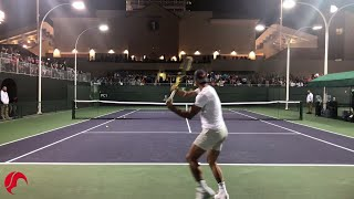 Nadal Intense Training Indian Wells 2019 Tennis - Court Level View