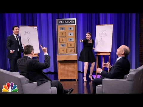 Pictionary with Lena Dunham and J.K. Simmons