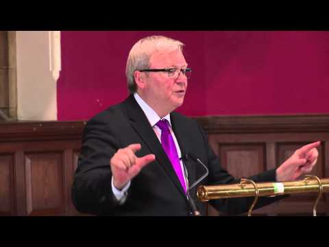 Preserve World Peace | Kevin Rudd - OxfordUnion  - p7eG11o_kis -