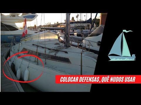 Cómo colocar defensas en un barco en menos de 3 minutos, nudos marineros