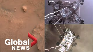 NASA releases 1st video of Perseverance rover landing on Mars