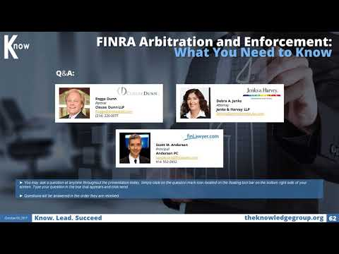 FINRA Arbitration and Enforcement