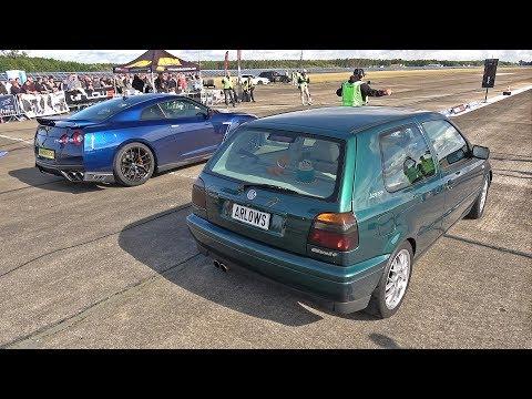 700HP Volkswagen Golf 3 VR6 Turbo vs 630HP Nissan GT-R R35