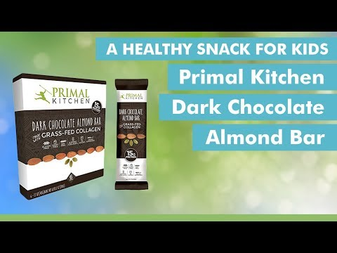 A Healthy Snack For Kids: Primal Kitchen Dark Chocolate Almond Bar