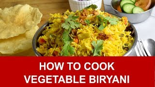 Vegetable Biryani - How to cook in three simple steps