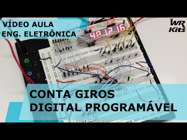 CONTA GIROS DIGITAL PROGRAMÁVEL | Vídeo Aula #131