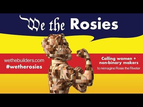 We the Builders @we_the_builders #WeTheRosies 3D printing Rosie the Riveter @adafruit #adafruit