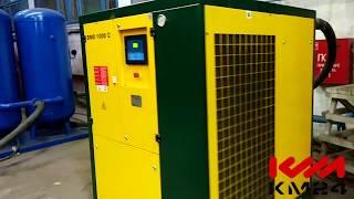 Винтовой компрессор EKOMAK DMD 1000 C и два рессивера по 900 литров