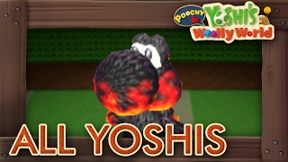 Poochy & Yoshi's Woolly World - All Yoshis (Yoshi Hut & Craft Mode)