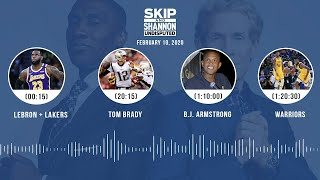 LeBron + Lakers, Tom Brady, B.J. Armstrong, Warriors (2.10.20) | UNDISPUTED Audio Podcast