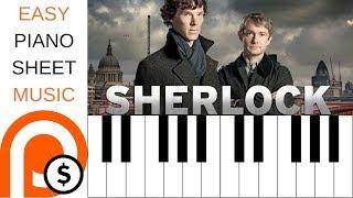 SHERLOCK THEME | EASY PIANO SHEET MUSIC | PATREON FRIDAY