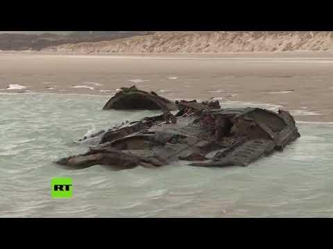 Emerge en la costa de Francia un submarino alemán de la Primera Guerra Mundial