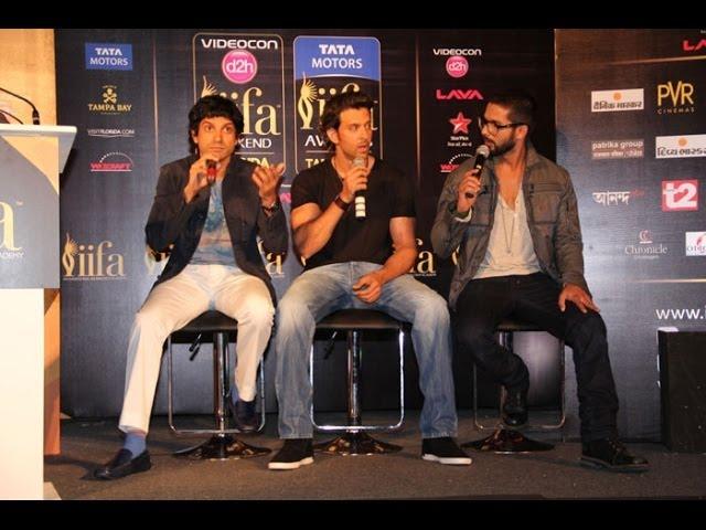 IIFA Awards 2014 Press Conference│Hrithik Roshan, Farhan Akhtar, Shahid Kapoor