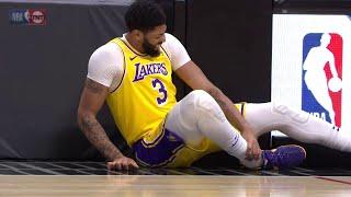 Anthony Davis Ankle Injury After Awkward Landing 🤕