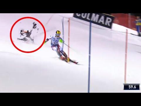 """Камера-дрон за малку ќе го """"средеше"""" австрискиот скијач Марсел Хиршер"""