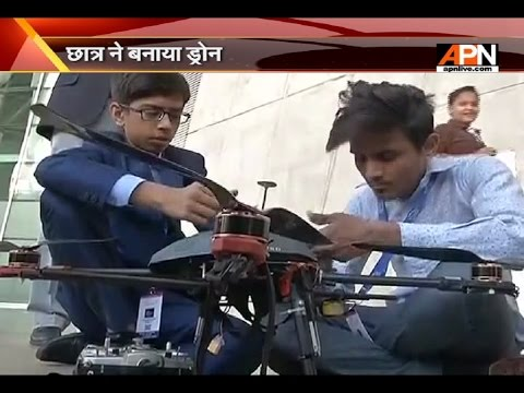 14 year old boy signs 5 crore MOU for drones