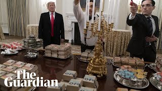 Donald Trump serves fast food to White House guests
