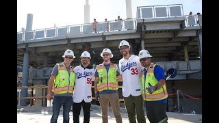 Dodgers' Mookie Betts and David Price tour Dodger Stadium construction