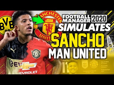 Football Manager Simulates - Sancho at Manchester United