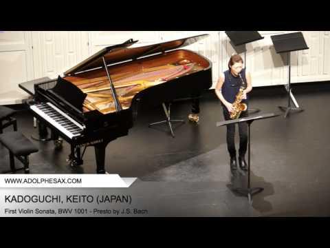 Dinant 2014 - Kadoguchi, Keito - First Violin Sonata, BWV 1001 - Presto by J.S. Bach
