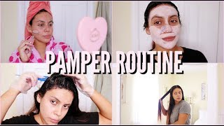 FALL PAMPER ROUTINE: AT HOME SPA DAY 2018 | JuicyJas
