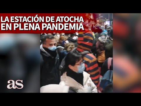 La estación de Atocha a las 7 de la mañana en plena pandemia | Diario AS
