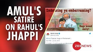 Watch: Amul features Rahul Gandhi's hug to PM Modi through..