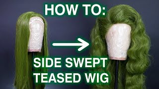 How To Style Side Swept Teased Hair! - YouTube