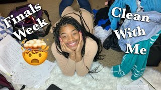CLEAN WITH ME | FINALS WEEK (chit chat)