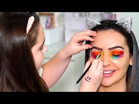 MY 11 YEAR OLD COUSIN DOES MY MAKEUP!