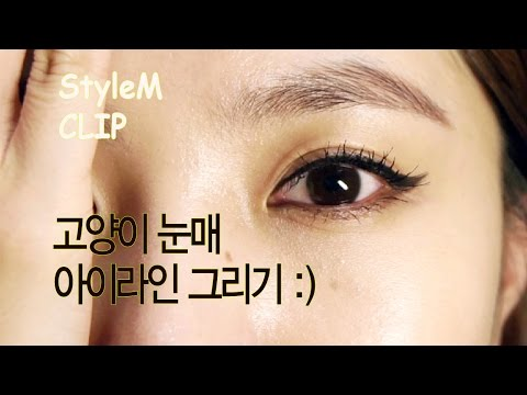 [STYLEMCLIP] How to apply eyeliner / cats eyes eyeline (고양이 아이라인 그리는
