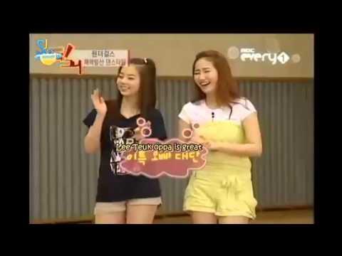 Leeteuk dancing H.O.T Candy feat. Eunhyuk and Shindong